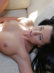 Raven haired Mia Manarote wears sexy lingerie to seduce her man before giving his hard cock a long ride in her fuck hole