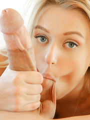 Blonde beauty, Natalia, gets fucked and facialized